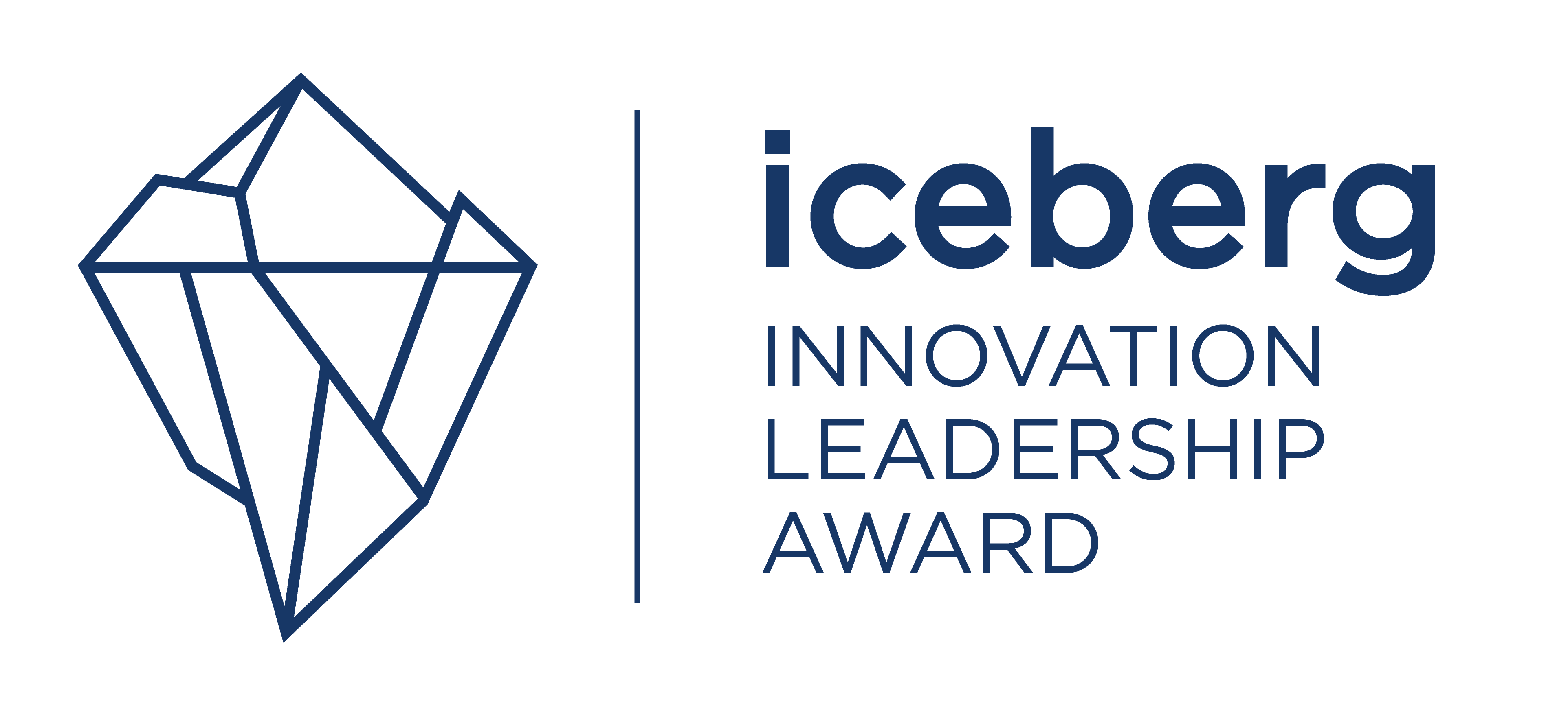 Iceberg logo with text cut